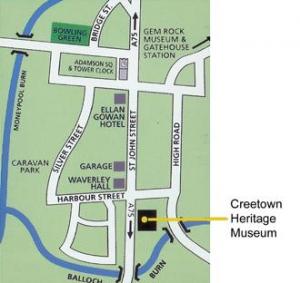 Creetown Street Map